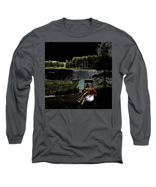 Long Sleeve T-Shirt featuring the photograph Relaxing By Moonlight by David Patterson