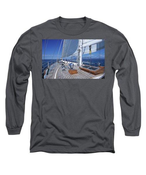 Relaxing On Deck Long Sleeve T-Shirt