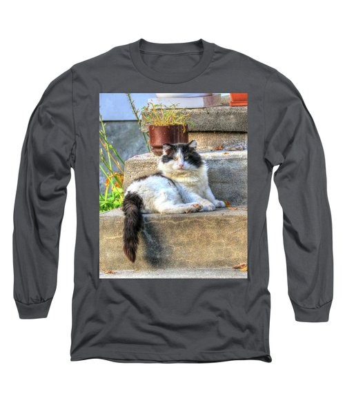 Relaxing On The Stairs Long Sleeve T-Shirt