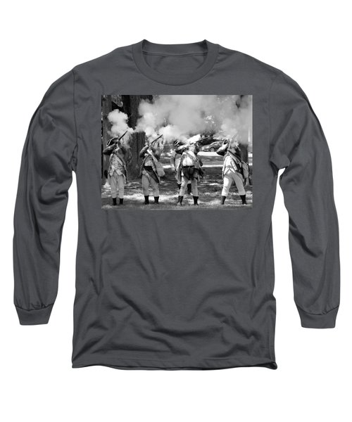 Reliving History-bw Long Sleeve T-Shirt