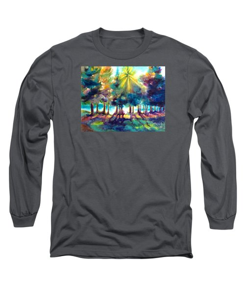 Long Sleeve T-Shirt featuring the painting Remember The Son by Kathy Braud