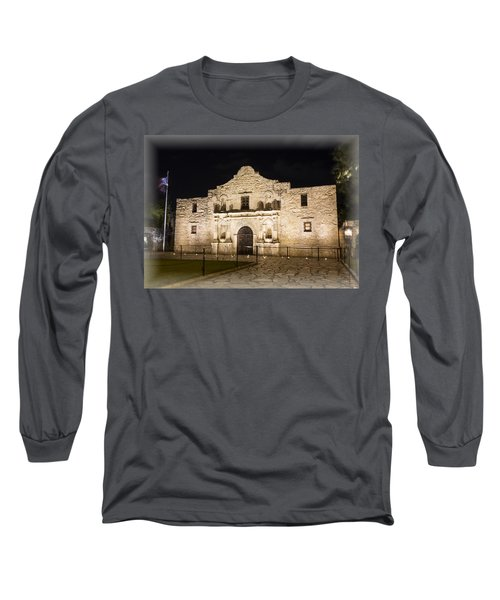 Remembering The Alamo Long Sleeve T-Shirt by Stephen Stookey