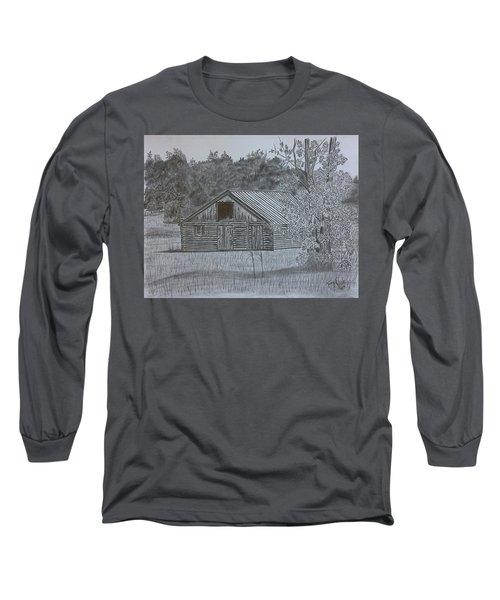 Remote Cabin Long Sleeve T-Shirt by Tony Clark