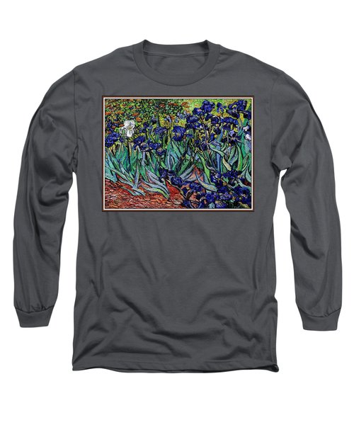 replica of Van Gogh irises Long Sleeve T-Shirt by Pemaro