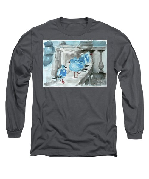 Rest By The Sea Long Sleeve T-Shirt by Jasna Dragun