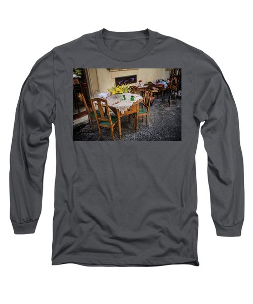Restaurant In Sicily  Long Sleeve T-Shirt by Patrick Boening