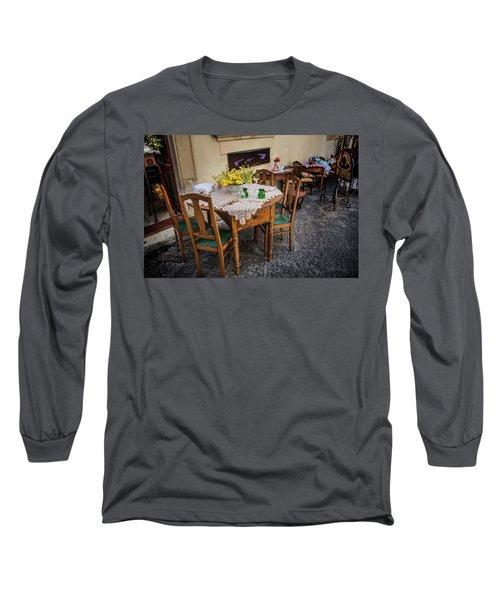 Restaurant In Sicily  Long Sleeve T-Shirt