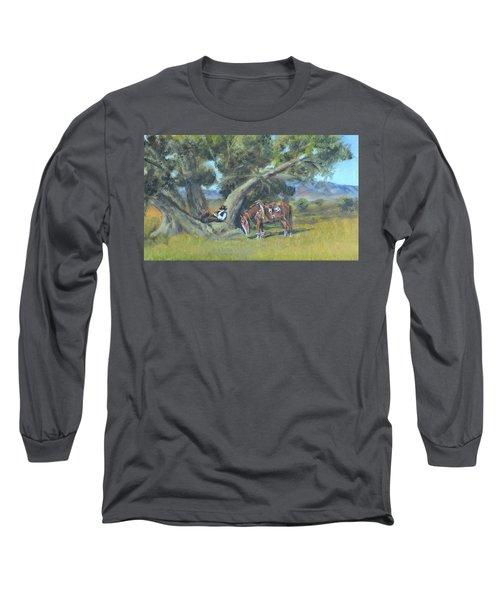 Resting Cowboy Painting A Study Long Sleeve T-Shirt