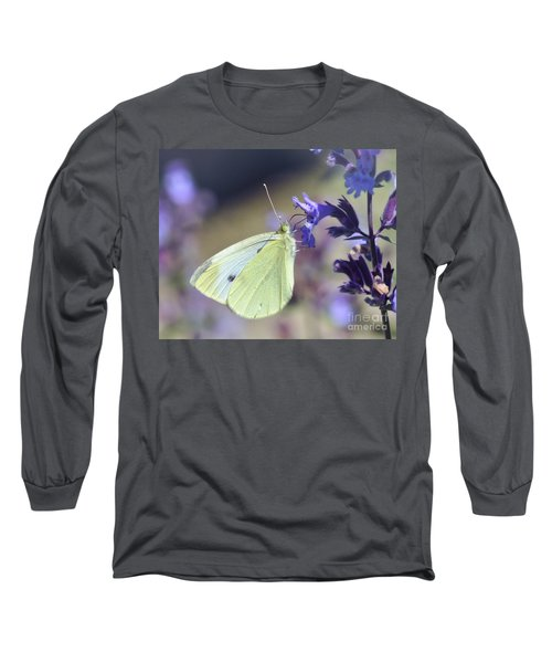 Long Sleeve T-Shirt featuring the photograph Resting In The Purple by Kerri Farley