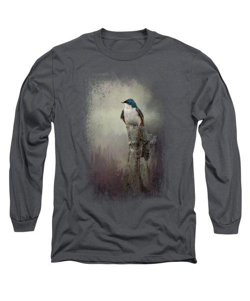 Resting Tree Swallow Long Sleeve T-Shirt