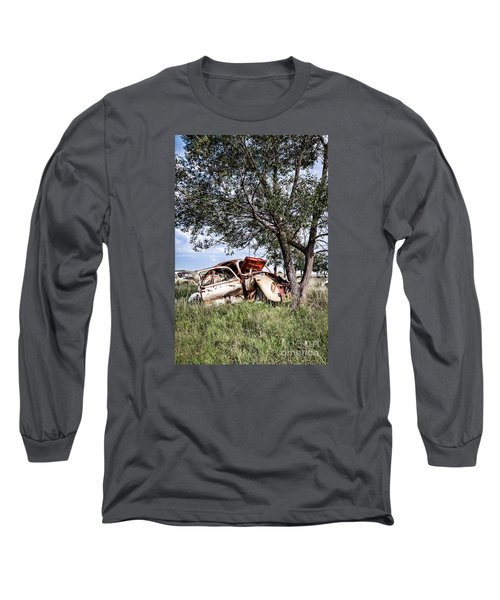 Long Sleeve T-Shirt featuring the photograph Retired Bug by Lawrence Burry