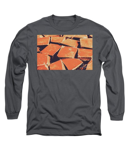 Retro Chocolate Squares Long Sleeve T-Shirt