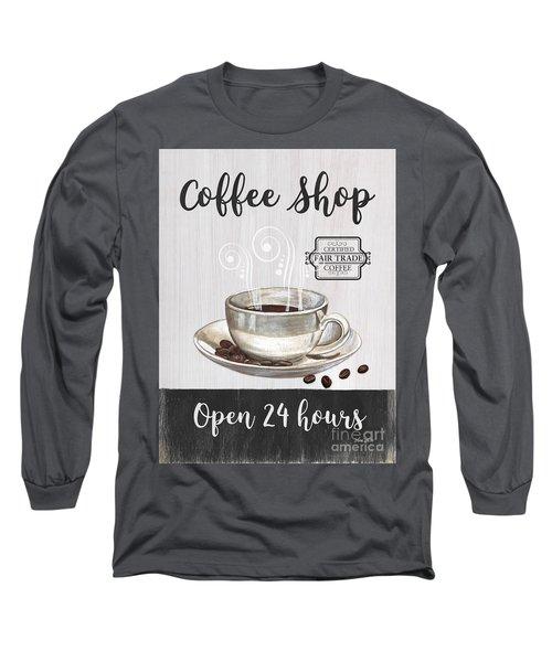 Retro Coffee Shop 1 Long Sleeve T-Shirt