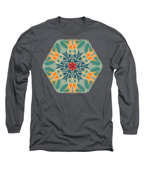 Retro Surfboard Woodcut Long Sleeve T-Shirt