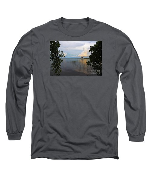 Revealing The Lagoon Long Sleeve T-Shirt by Yuri Santin