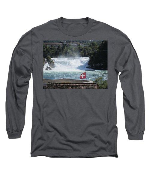 Rhine Falls In Switzerland Long Sleeve T-Shirt