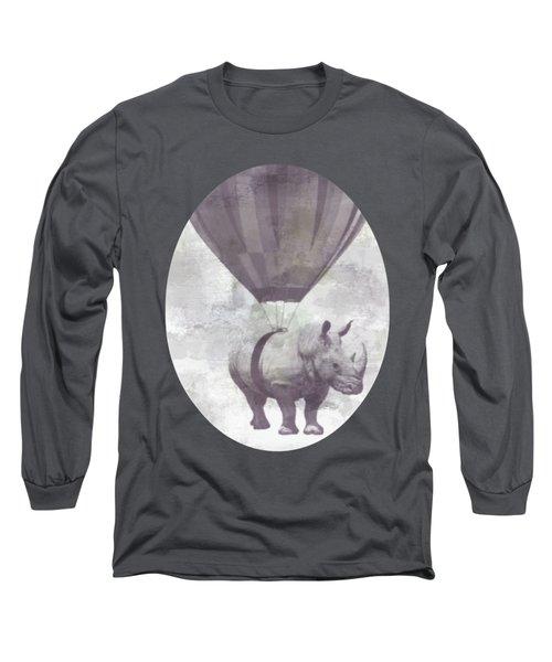 Rhino On Clouds Long Sleeve T-Shirt