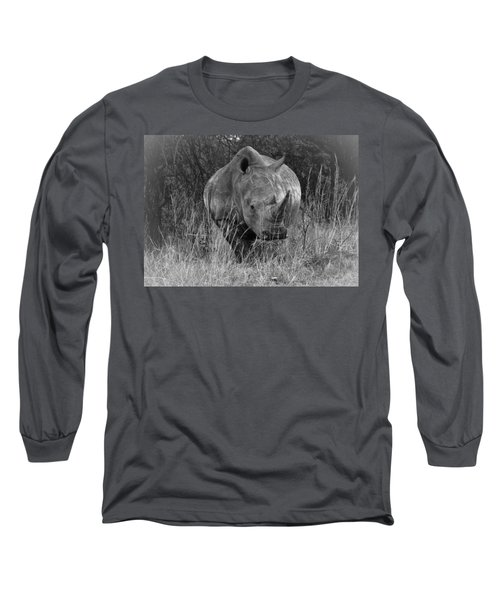 Rhino Long Sleeve T-Shirt by Patrick Kain