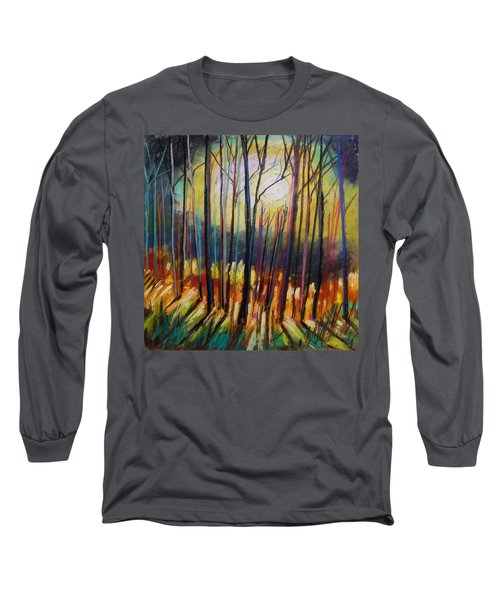 Long Sleeve T-Shirt featuring the painting Ribbons Of Moonlight by John Williams