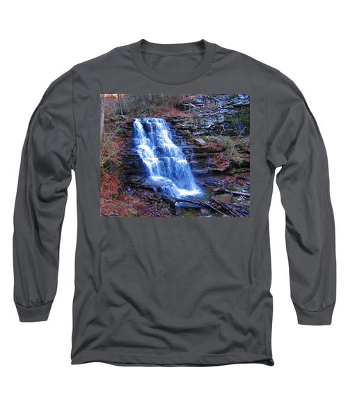 Ricketts Glen Waterfall 3941  Long Sleeve T-Shirt