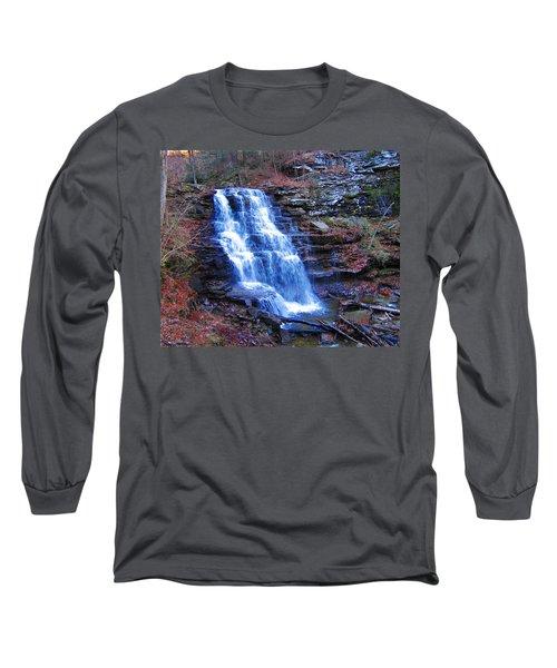Ricketts Glen Waterfall 3941  Long Sleeve T-Shirt