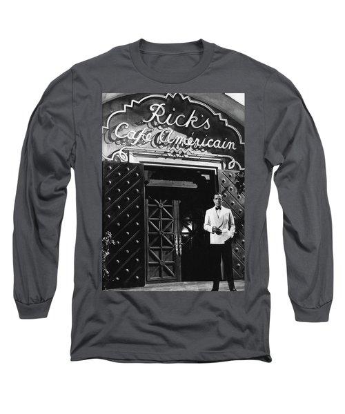 Ricks Cafe Americain Casablanca 1942 Long Sleeve T-Shirt by David Lee Guss
