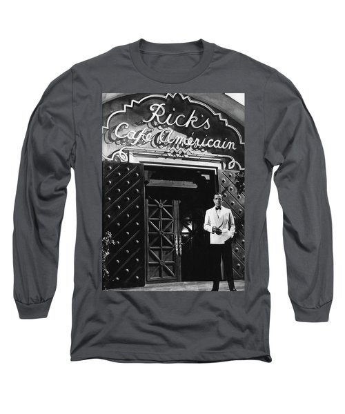 Ricks Cafe Americain Casablanca 1942 Long Sleeve T-Shirt
