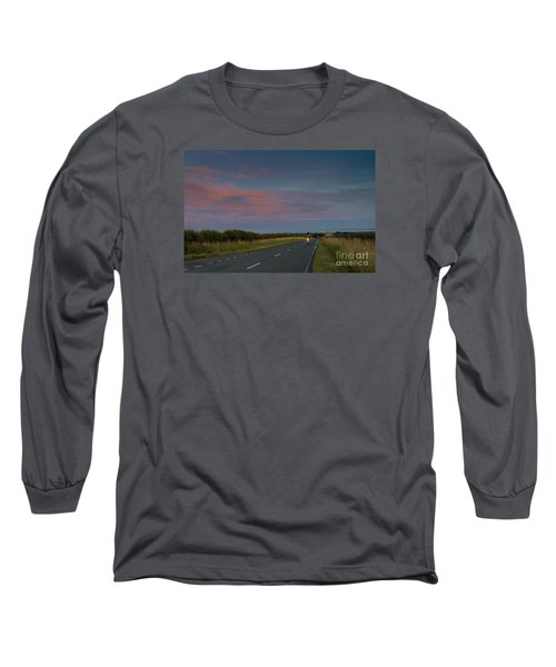 Riding Into The Sunset Long Sleeve T-Shirt by David  Hollingworth