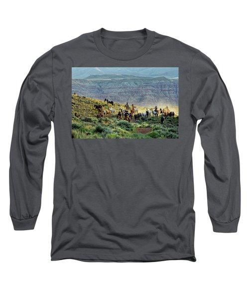 Riding Out Of The Sunrise Long Sleeve T-Shirt