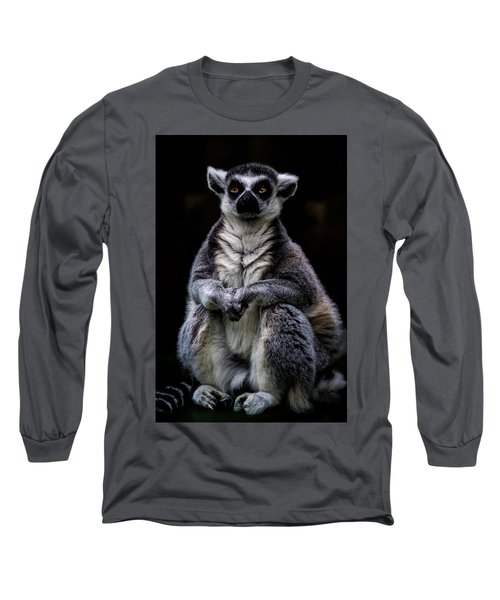 Long Sleeve T-Shirt featuring the photograph Ring Tailed Lemur by Chris Lord