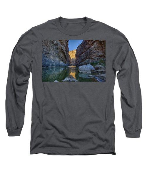 Rio Grand - Big Bend Long Sleeve T-Shirt by Kathy Adams Clark