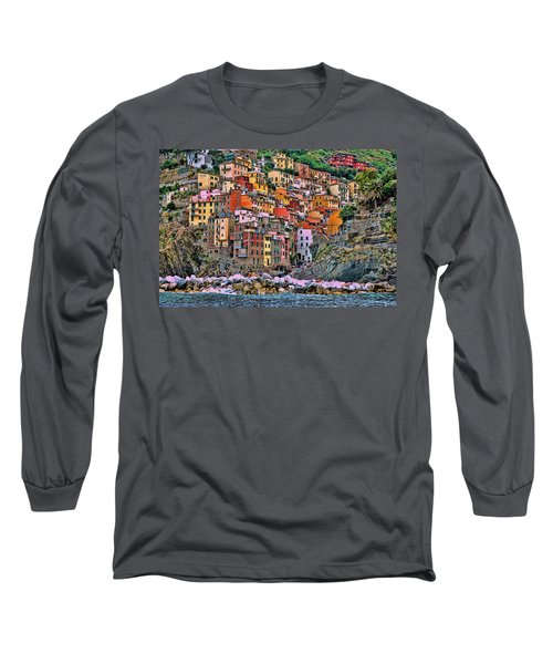 Long Sleeve T-Shirt featuring the photograph Riomaggiore by Allen Beatty