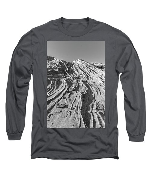 Rippled Sandstone At Waterhole Canyon Long Sleeve T-Shirt