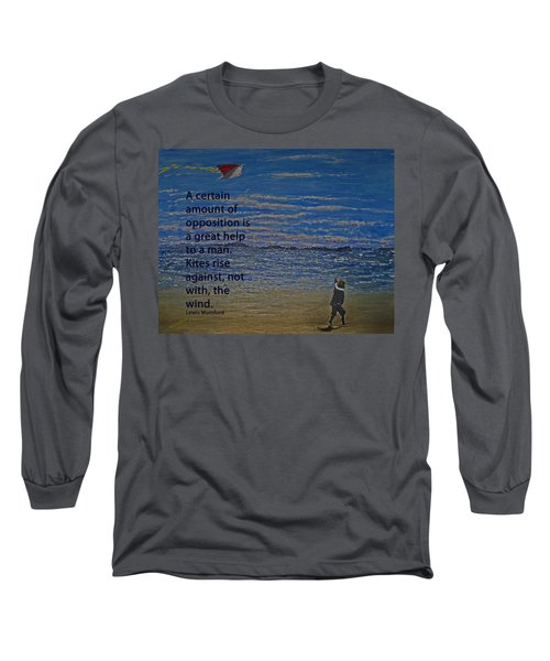 Rise Against The Wind Long Sleeve T-Shirt by Ian  MacDonald