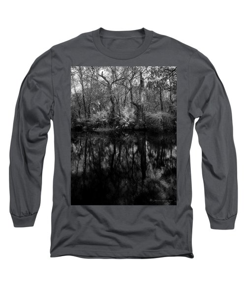 Long Sleeve T-Shirt featuring the photograph River Bank Palmetto by Marvin Spates