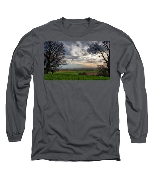 Long Sleeve T-Shirt featuring the photograph River Forth View From Clackmannan Tower by Jeremy Lavender Photography