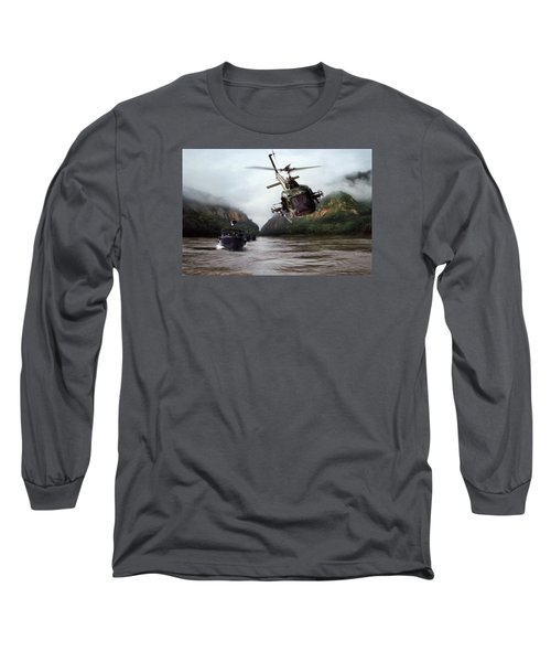 River Patrol Long Sleeve T-Shirt by Peter Chilelli