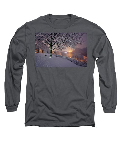 River Road  Long Sleeve T-Shirt by Emmanuel Panagiotakis