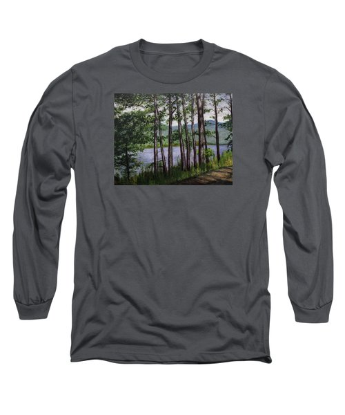 River Road Long Sleeve T-Shirt by Ron Richard Baviello