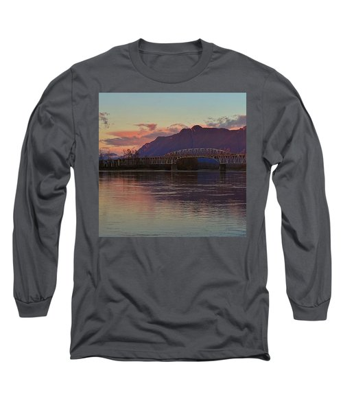 Fraser River, British Columbia Long Sleeve T-Shirt by Heather Vopni