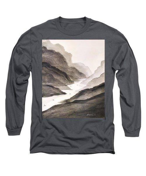 River Running Through Mountains Long Sleeve T-Shirt