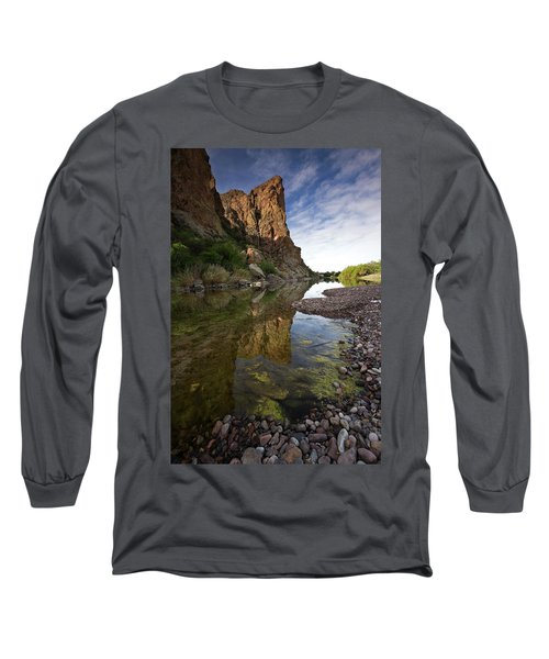 River Serenity Long Sleeve T-Shirt by Sue Cullumber