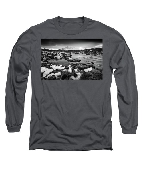 River Sligachan And Black Cuillin, Isle Of Skye Long Sleeve T-Shirt