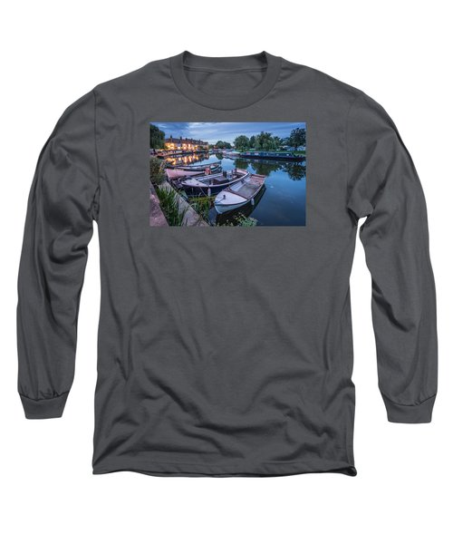 Riverside By Night Long Sleeve T-Shirt