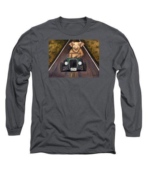 Road Hog Long Sleeve T-Shirt by Leah Saulnier The Painting Maniac