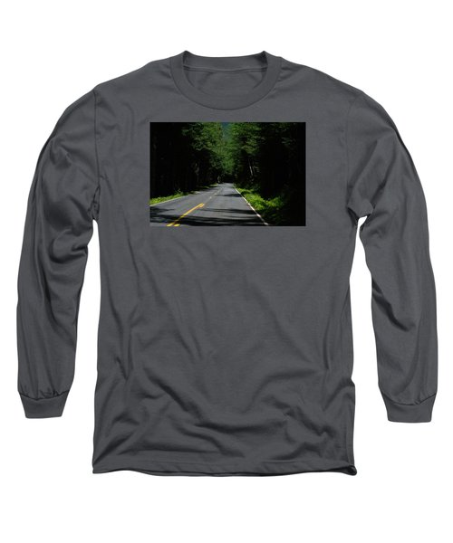 Road Leading To Where? Long Sleeve T-Shirt by John Rossman
