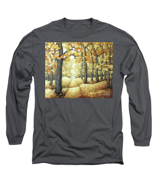 Road To Autumn Long Sleeve T-Shirt by Inese Poga