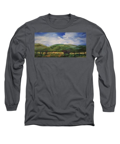 Road To Melrose, Montana         32 Long Sleeve T-Shirt