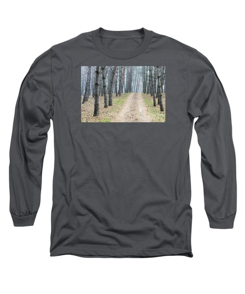 Road To Pine Forest Long Sleeve T-Shirt by Odon Czintos