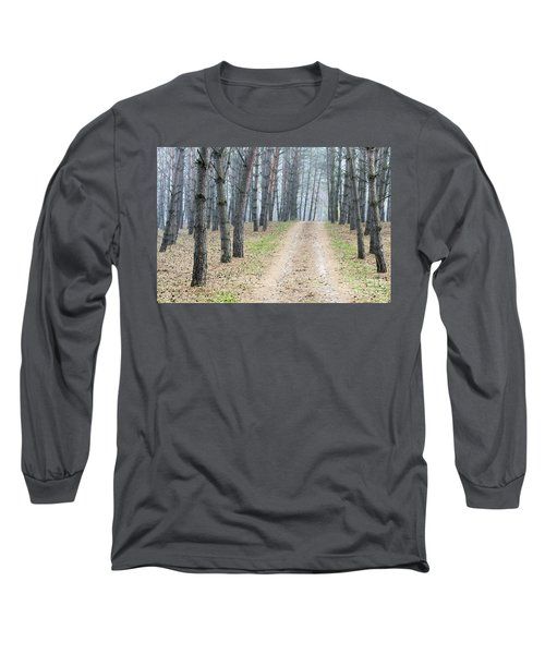 Road To Pine Forest Long Sleeve T-Shirt
